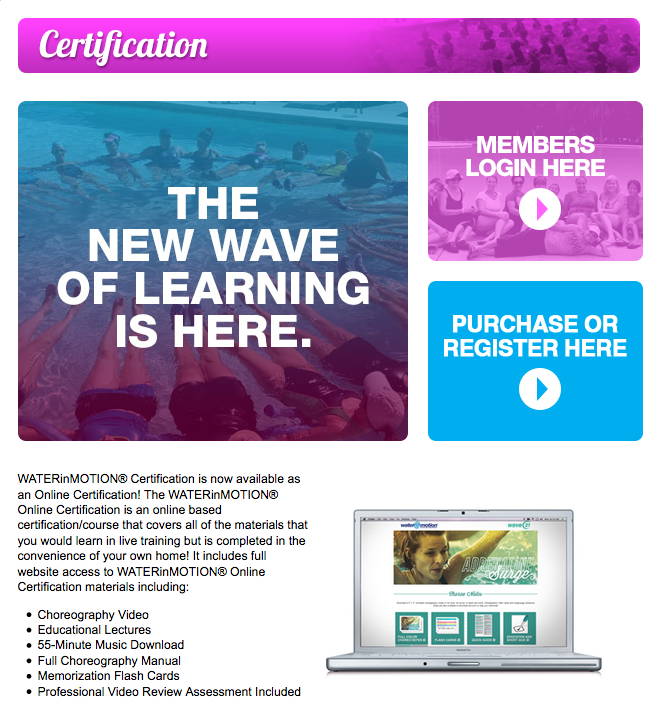 Online Certification Course Waterinmotion