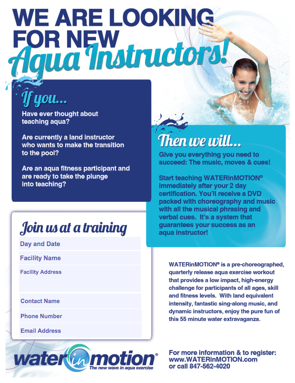 Certification Training Posters Waterinmotion